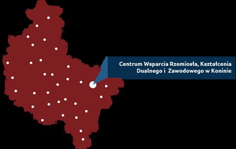 Mapka województwa wielkopolskiego z lokalizacją Konina