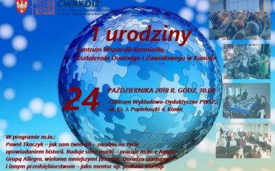 Pierwsze urodziny CWRKDiZ w Koninie