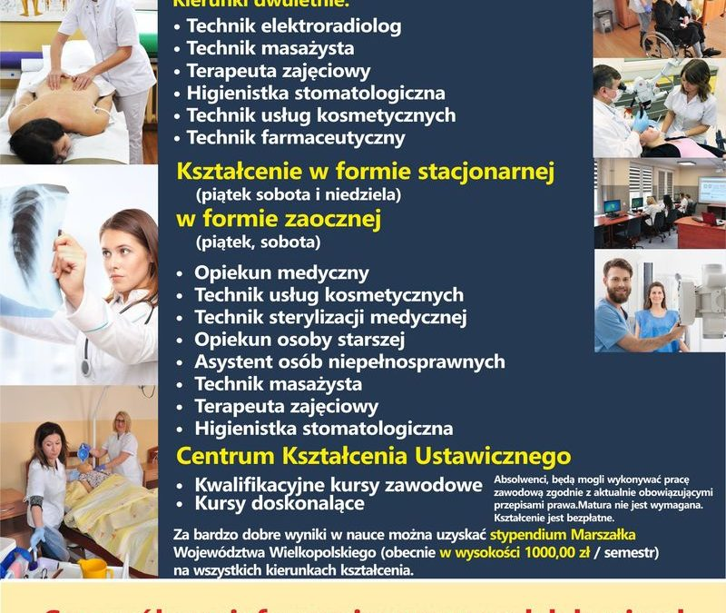 Nabór do szkół 2020 – Medyczna Szkoła Policealna