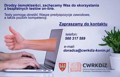 Testy predyspozycji i kompetencji zawodowych on-line