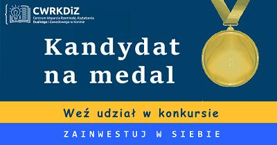 """Konkurs """"Kandydat na medal"""" z nagrodami dla uczniów szkół podstawowych i ponadpodstawowych"""